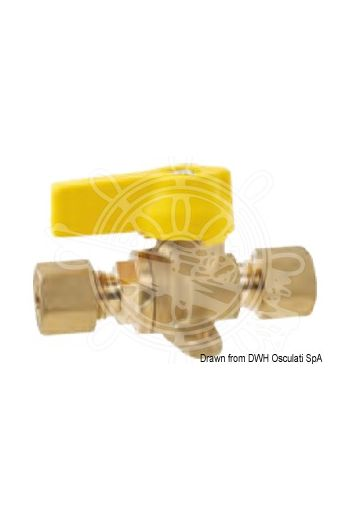 Shut-off valve with fixing plate