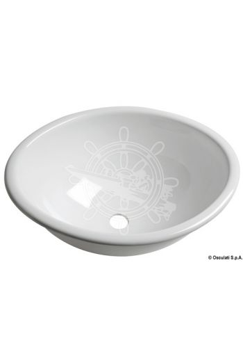 Oval plexiglas sink (Measures: 370 x290 x150 mm, Drain OPTIONAL: 50.170.41; 50.270.41)