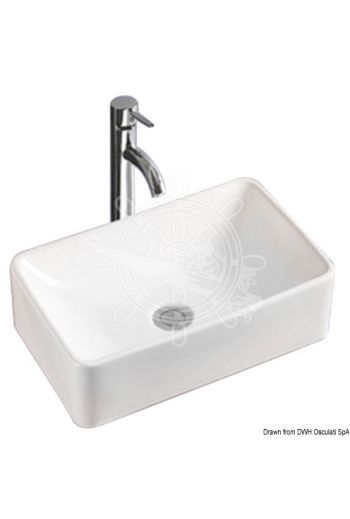 Square sink (Measures: 365x315x130 mm)
