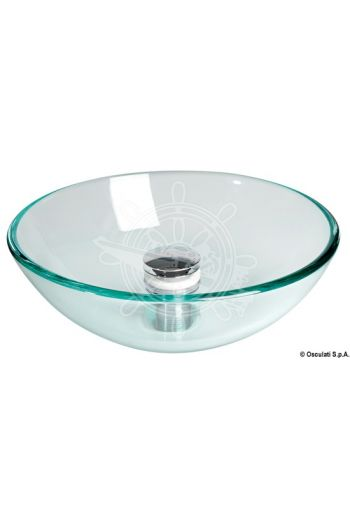 Transparent glass hemispherical sink