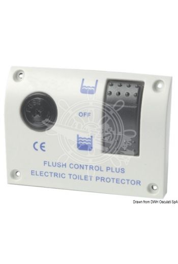 Electric control panel, universal size for electric toilets