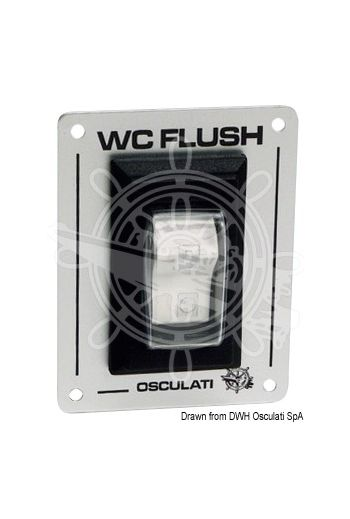 "Switch ""toilet FLUSH"" (Volt: 12/24, Panel mm: 80x60)"