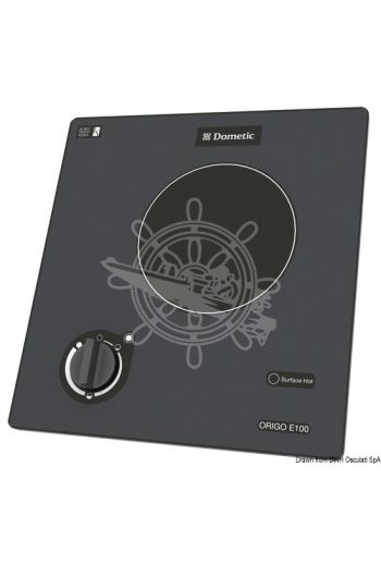 DOMETIC electrical touch-control glass ceramic hob