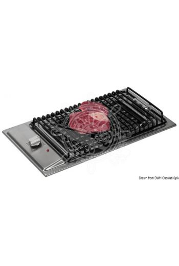 Stainless steel electric barbecue (Volt: 220, Power W: 2400, Measures: 500x300, Measures: 455x240x45 depth)