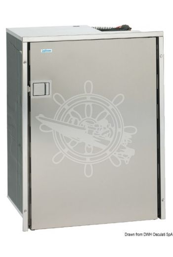 ISOTHERM 130-l refrigerator with stainless steel front panel (Model: CR130 DRINK SS, Volume: 130 l, V: 12/24, Current draw: 1,4/5,2 A, Measures: 545 mm, Measures: 545 mm, M)
