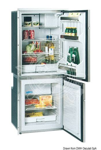 ISOTHERM refrigerator with stainless steel front panel - double compartment