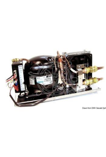 ISOTHERM by Indel Webasto Marine Secop cooling unit with VE150 ventilated evaporator (Volt: 12/24/220, Consumption: 0.380 kw/24 h *, Measures: 388x132x160, Measures: 220x275x58)