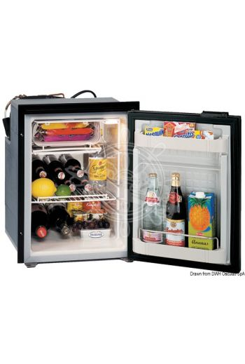 ISOTHERM refrigerator with maintenance-free 49-l Secop hermetic compressor