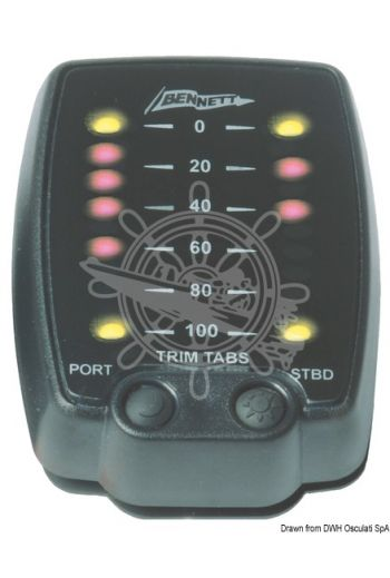 Bennett Electronic Trim tab indicator control with LED