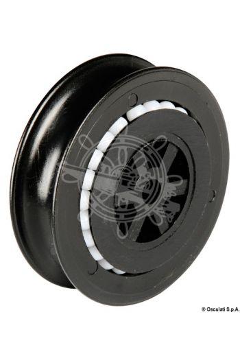 Nylon sheave on Delrin® ball bearings
