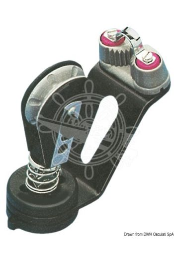 Cam cleat swivel base with block (Suitable for lines up to mm: 10/12)