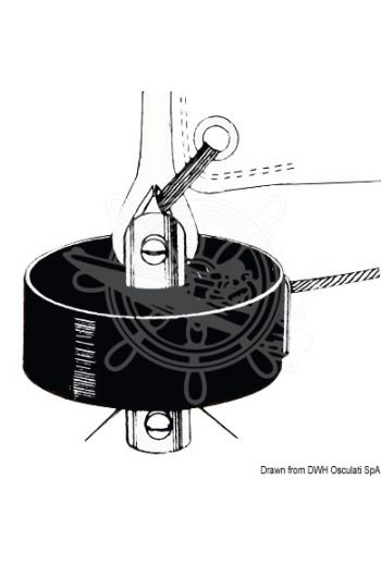 Sea Sure jib furling system with manual return line (Suitable for: All types of keels, Drum Ø: 69 mm, Weight: 116 g)