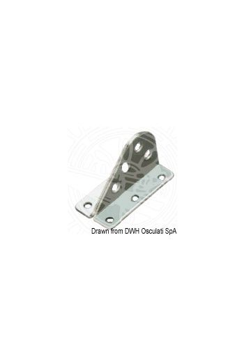 Forestay plate made of stainless steel (Ø hole mm: 5, Base mm: 60x34, Height mm: 38)