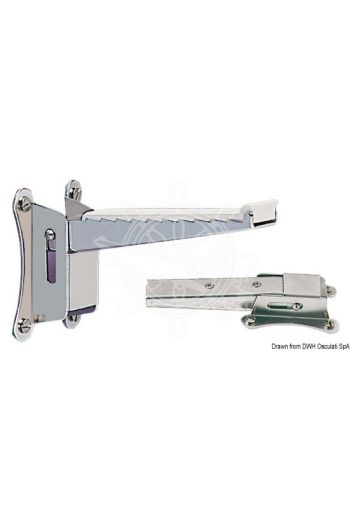 Foldable mast step (Base mm: 85x60, Size mm - closed: 25, Size mm - opened: 108)