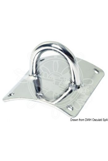 """Sea Sure"" plate for mast fitting (Plate mm: 63x75, Round bar size mm: 8, Mounting: 6 screws size 5 mm)"