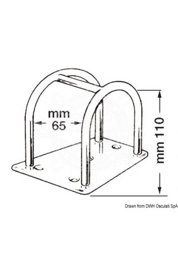 Spinnaker pole holder (For: pole head, Caratteristiche: height bar 110 mm)