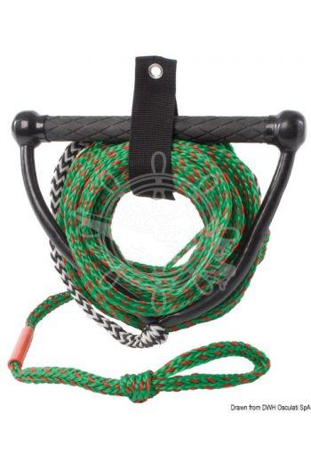 High visibility bi-colour rope.