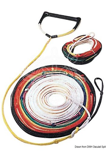 Rope fitted with 8 different color sections for easy shortening