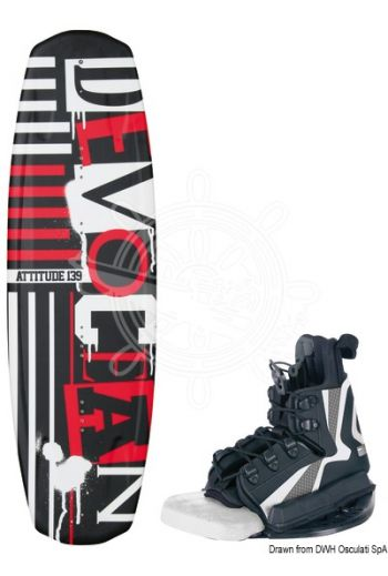 DEVOCEAN Attitude wakeboard (Length mm: 139, People weight kh: 50/90)