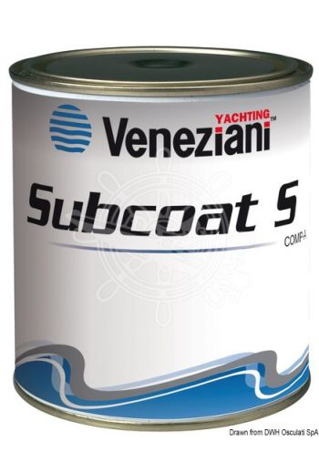 VENEZIANI two-component epoxy filler for underwater uses (Colour: Light blue, Pack: 2x1 kg)