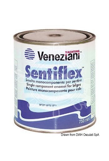 VENEZIANI Sentiflex paint (Colour: grey, Yield: 6/7 m2/l, Package: 0.75 l)
