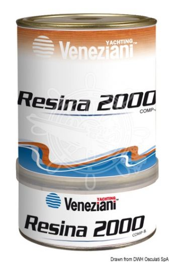 VENEZIANI Resina 2000 background (Yield: 10 m2/l, Package: 0,75 l)