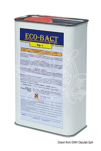 ECO BACT fuel biocide (Package: 1 kg, Tretment - continuous: 250 grams per 1000 litres every refuelling, Tretment - periodical: 1000 )