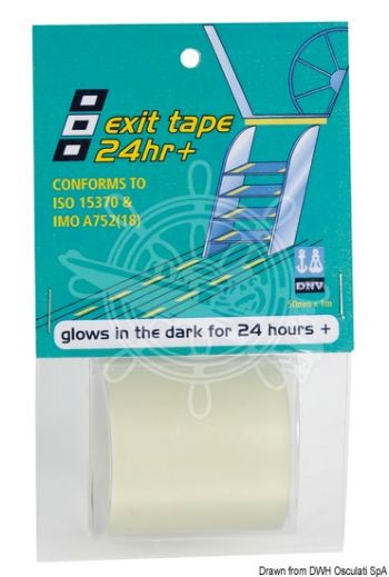 PSP MARINE TAPES Exit Tape luminescent adhesive tape (Roll: 50 mm x 1 m)