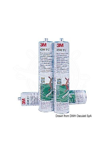 3M 4200FC Marine Sealing adhesive (Package: 310-ml cartridge, Colour: White)