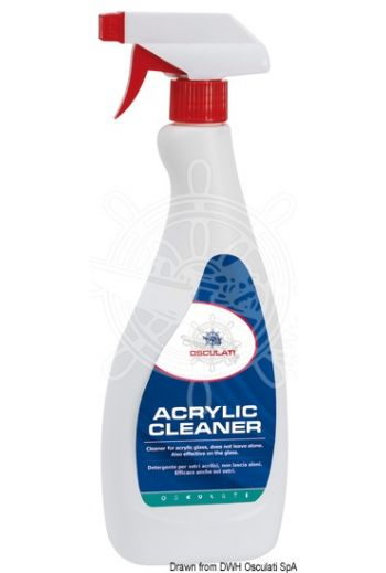 Acrylic cleaner - Detergent for acrylic panes (polycarbonate, plexiglass, etc.) (Package: 750 ml, Items per package: 6)