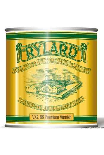 RYLARD VG66 Premium clear varnish for wood substrates (Yield: 18 m2/l, Drying: 8 h, Repaintability: 24 h, Package: 0.75 l)