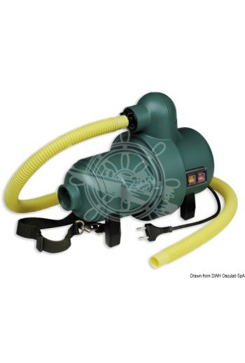 Bravo 2000 electic inflator pump (Functions: Inflation + deflation, V: 220, W - Basic: 1000, W - With booster: 2000, Flow - Basic: 1200 l/min, F)