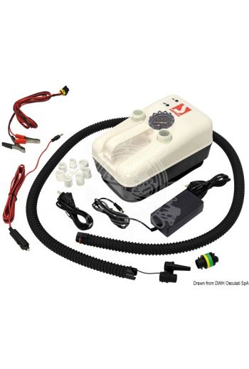 BRAVO 20 12V electric inflator (Functions: Inflation + deflation, V: 12, W: 108, Flow: 125 l/min, Max pressure: 15000 mbar (22 PSI), Current d)