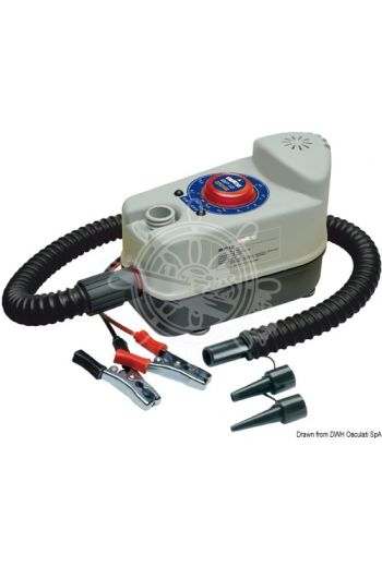 BP 12 inflator (Functions: Inflation, V: 12, W: 240, Flow l/min: 160, Max pressure: 1000 mbar (14.5 PSI), Current draw A: 20, )