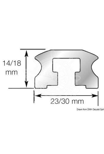 LEWMAR sliding bolt track