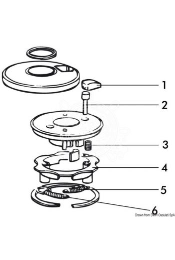 LEWMAR spare parts for 3-speed winches