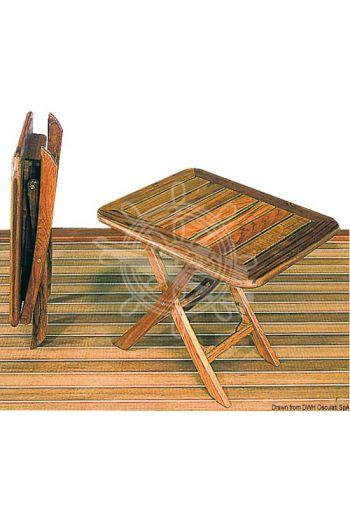 ARC teak tip-top table, adjustable height (Open top cm: 50x40, Heightcm: 35x40, Folded cm: 62x40x10)