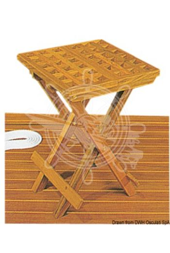ARC teak folding stool (Measures: 30x30x45 cm, Measures: 30x5x6 cm)