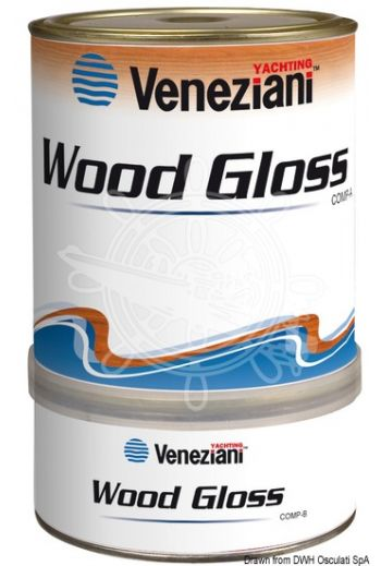 Varnish VENEZIANI Wood-Gloss (Color: Transparent, Yield: 19 m2/l, Package: 0,75 l)