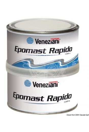 Filler VENEZIANI Epomast Rapido (Color: Light grey, Package: 0.5 l)