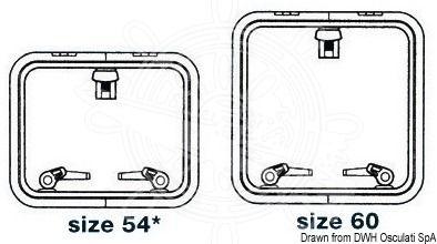 LEWMAR Low Profile Size 44 Deck Hatch Boat Marine Holding arm